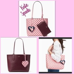 Kate Spade Arch Love Birds Reversible Tote New!